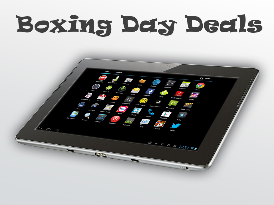 Boxing Day Tablet Sales and Deals